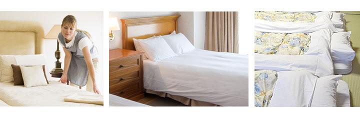 快適なホテルの客室 旅館の寝室