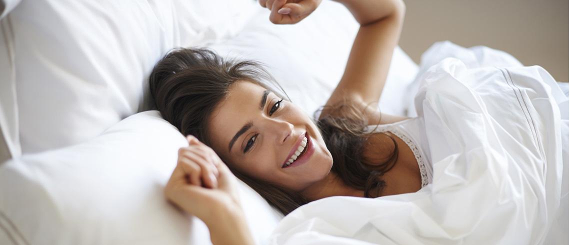 ホテルのようなパリッとしたリネンで快適な眠り、清々しい目覚めを