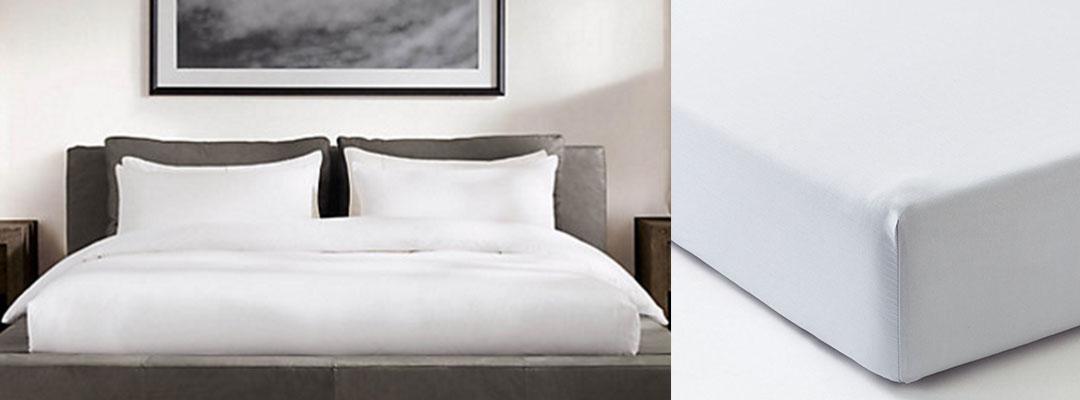 シングルベッド2つを包む用シーツ